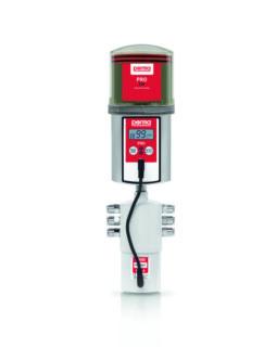 Batteridriven flerpunktssmörjning för upp till totalt 6 utlopp. Display med statuskontroll utav samtliga utlopp, återstående volym och aktiva utlopp.